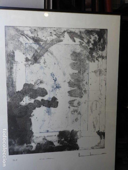 Arte: LITOGRAFIA DE PINTOR ARAGONES PA/3 EN EL UMBRAL - Foto 7 - 276990103