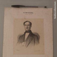 Arte: LITGORAFIA ORIGINAL SIGLO XIX. JUAN DONOSO CORTÉS, EL FARO NACIONAL. Lote 276994573