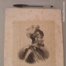 Arte: LITOGRAFIA ORIGINAL SIGLO XIX. VASCO NUÑEZ DE BALBOA, DESCUBRIDOR DEL MAR DEL SUR. Lote 276994688