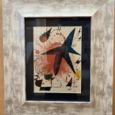 "Arte: JOAN MIRÓ - LITOGRAFÍA ENMARCADA ""L´ASTRE BLEU"". Lote 276770738"