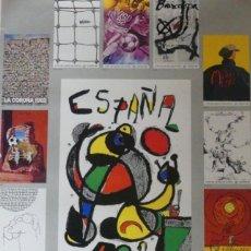 Arte: CARTEL LITOGRAFICO COPA DEL MUNDO DE FÚTBOL ESPAÑA 82. MIRÓ, ARROYO, FOLON Y OTROS. Lote 277261838