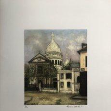 Arte: LITOGRAFÍA MAURICE UTRILLO BASILICA DEL SACRÉ COEUR 70X50. ARTI GRAFICHE ROMA.. Lote 277428793