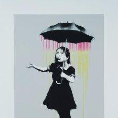 "Arte: BANKSY ""NOLA PINK AND YELLOW RAIN"" EDICIÓN LIMITADA FIRMADO. Lote 277654948"