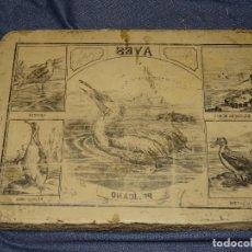 Arte: (M) PIEDRA LITOGRAFICA PARA IMPRIMIR FINALES S.XX, TEMÁTICA AVES Y PAJAROS, 38X27,5X5CM. Lote 277691998