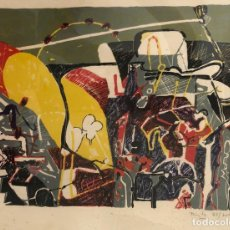 Arte: LITOGRAFIA DEL ARTISTA GUIPUZCOANO JOSE LUIS ZUMETA. SIN TITULO. FIRMADO A LAPICERO POR AUTOR. Lote 278362238