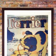Arte: ANDY WARHOL, LITOGRAFÍA -TERRIER - EDIT LIMIT Nº82 DE 100, CON CERTIFICADO,TAM 57X38 CM. Lote 278434733