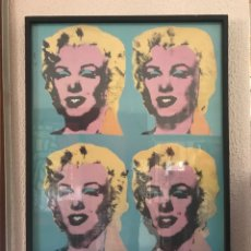 Arte: ANDY WARHOL. FOUR MARILYNS 1985 POSTER. Lote 278693263