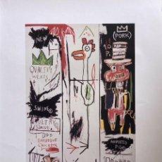 Arte: JEAN-MICHEL BASQUIAT - LITOGRAFIA - UNTITLED - 1981 - 250 EX. - 50X70. Lote 278920388