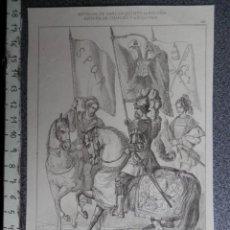 Arte: INTERESANTE LOTE 10 LITOGRAFÍAS DE GRABADOS, SIGLO XIX, DEL EMPERADOR CARLOS V. Lote 283075783