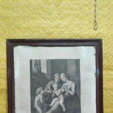 Arte: LITOGRAFIA, MARCO EN MADERA DE NOGAL 2000 - 222. Lote 283639373
