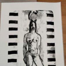 Arte: MARIA CARBONERO , LITOGRAFIA BLANCO Y NEGRO PINTURA DIBUJO BALEARES MALLORCA ARTE. Lote 284080933