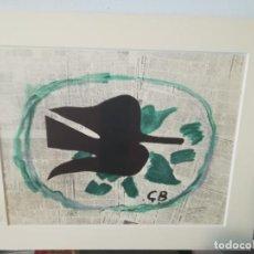 Arte: REPRODUCCION EN OFSSET DE LITOGRAFIA DE GEORGE BRAQUE ENMARCADA L,OISEAU DAN'S LE FEUILLAGE. Lote 275236408