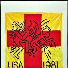 Art: KEITH HARING * ESTADOS UNIDOS 1981 * LITOGRAFIA FIRMADA * LIMITADA # 111/150 - 50 X 70.CM. Lote 284785143