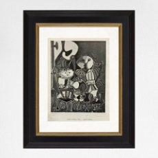 Arte: PABLO PICASSO 1958 IMPRESIÓN ORIGINAL, MANO FIRMADA CON CERTIFICADO DE AUTENTICIDAD. Lote 285171763