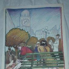 Art: BELLA LITOGRAFÍA DE JAVIER DE JUAN LAS HORMIGAS ESTÁN HACIENDO UN TÚNEL 1984. Lote 285344173