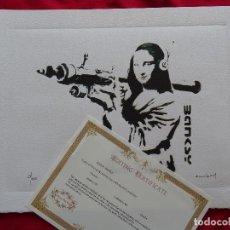 Arte: BANKSY, EDICIÓN LIMITADA CERTIFICADO (PICASSO BANKSY MIRÓ WARHOL HARING). Lote 287066398