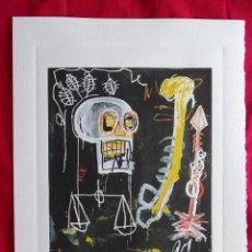 Arte: JEAN-MICHEL BASQUIAT, CON SELLO DE AUTENTIFICACIÓN EN RELIEVE (PICASSO BANKSY MIRÓ WARHOL HARING). Lote 287066568