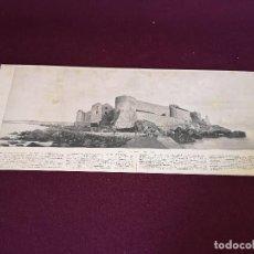 Art: S. XIX, ANTIGUA LITOGRAFÍA CON FOTOGRAFÍA PANORÁMICA, FORTIFICACIONES DE MELILLA, 62 X 26 CMS.. Lote 287124558