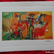 Arte: JEAN-MICHEL BASQUIAT, CON SELLO DE AUTENTIFICACIÓN EN RELIEVE (PICASSO BANKSY MIRÓ WARHOL HARING). Lote 287356018