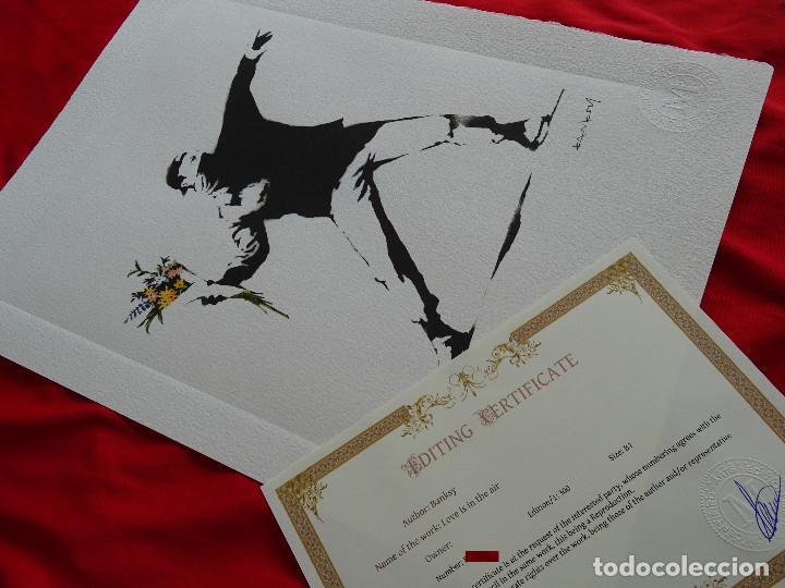 BANKSY, EDICIÓN LIMITADA CERTIFICADO (PICASSO BANKSY MIRÓ WARHOL HARING) (Arte - Litografías)