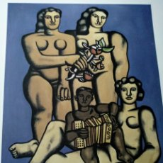 Arte: LITOGRAFÍA FERNANDO LEGER NUMERADA 70/200 FIRMADA EN PLACA. Lote 287363378