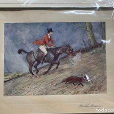 Art: GRABADO INGLÉS ( LA CAZA DEL ZORRO). Lote 287653068