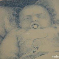 """Arte: LITOGRAFÍA CLAUDIO DÍEZ """" BEBE CON CHUPETE"""". Lote 287994523"""