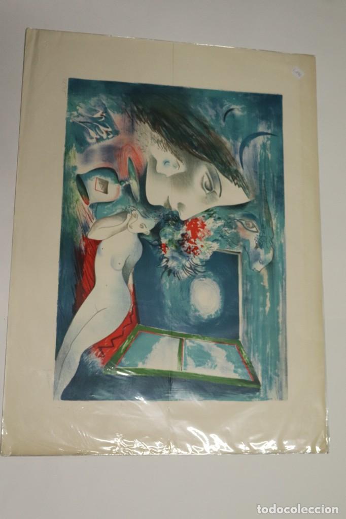 "Arte: LITOGRAFÍA DE ROLAIN ""PENSAMIENTO DE MUJER"" - Foto 2 - 288002958"