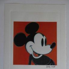Arte: ANDY WARHOL, CON SELLO DE AUTENTIFICACIÓN EN RELIEVE-(INTERES PICASSO, CHILLIDA, DALI, WARHOL,..). Lote 288701103
