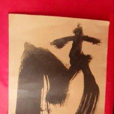 Arte: LITOGRAFIA ANTONI TAPIES CARBORUNDUM NUMERADO AF 878 / 1000 FIRMADO .MIDE 45 CM X32 CM. Lote 288955263