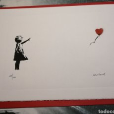 "Arte: BANKSY ""GIRL WITH BALLON"" EDICIÓN LIMITADA CON CERTIFICADO Y FIRMADA. Lote 289517803"