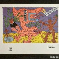 Arte: KEITH HARING. LITOGRAFÍA COLOR EDICIÓN LIMIT Nº 22 DE 150 COPIAS.CON CERTIFICADO.TAMAÑO 50 X 70 CM. Lote 289651943