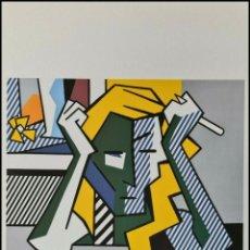 Arte: ROY LICHTENSTEIN, LITOGRAFÌA FIRMADA.DEEP EN THOUGHT. EDT LIMT Nº24 DE 150-TAMAÑO 50X35 CMS. Lote 290617798