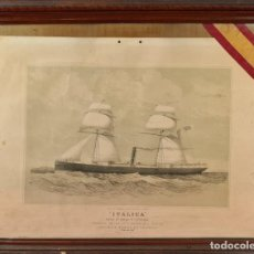 Arte: MACLURE AND MACDONALD. BUQUE ITALICA. LITOGRAFIA SOBRE PAPEL. ESCOCIA. 1860. Lote 294127398