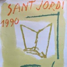 Arte: CARTEL LITOGRAFÍA SANT JORDI 1990 A LA UNIVERSITAT NUMERADO Y FIRMADO RAFOLS CASAMADA. Lote 294279378