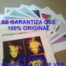 Arte: 10 GRANDES LAMINAS EN CARPETA ANDY WARHOL RETRATOS E ICONOS EL MUNDO VER FOTOS. Lote 294458488
