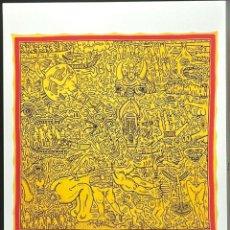 Arte: KEITH HARING. BONITA LITOGRAFÍA EDICIÓN LIMIT Nº 90 DE 150.CON CERTIFICADO.TAMAÑO 50 X 70 CM. Lote 295421463