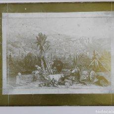 Arte: GRABADO DAVID ROBERT. GRANADA A ORILLAS DEL GENIL 1835. PLANCHA LITOGRÁFICA DE ZINC. Lote 295743083