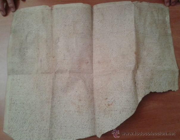 S XVII ?PERGAMINO - CAPITULOS MATRIMONIALES - BARCINO / TARADELL / OBISPADO BARCELONA (Arte - Manuscritos Antiguos)