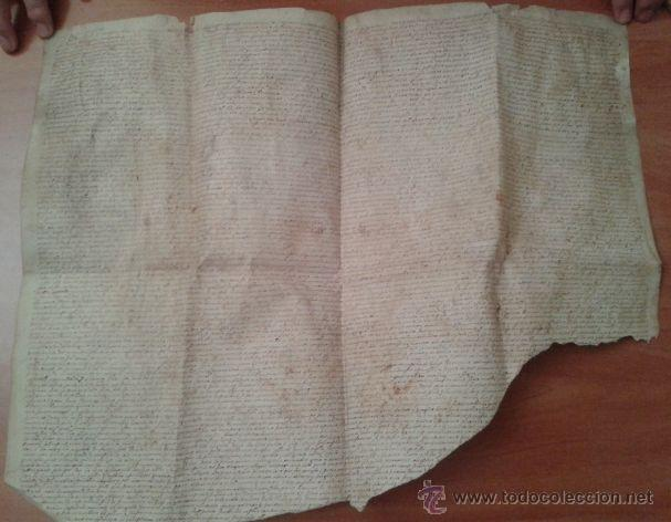 Arte: S XVII ?PERGAMINO - CAPITULOS MATRIMONIALES - BARCINO / TARADELL / OBISPADO BARCELONA - Foto 2 - 43240170
