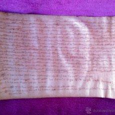 Arte: PERGAMINO MANUSCRITO, DONACION DE TIERRAS POR D. FARRER DE CARRERAS, VIC 1288. Lote 44518556