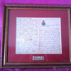 Arte: CARTA DE LA REINA ISABEL II DE BORBON AL GENERAL CAMILO POLAVIEJA 1888. Lote 44654811
