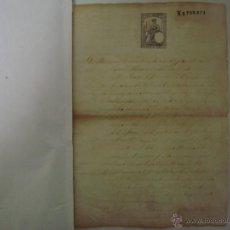 Arte: MANUSCRITO DE 2 HOJAS EN FOLIO DE 1876. SELLO. FLASSÁ. GIRONA. BONAVENTURA VIÑALS. Lote 47037842