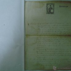 Arte: MANUSCRITO DE 2 HOJAS DE 1876. SELLO.FOLIO. BONAVENTURA DE VIÑALS. GIRONA.. Lote 47040984