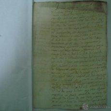 Art: MANUSCRITO DE 2 HOJAS DE 1815. FOLIO. STA. COLOMA DE FARNÉS. GIRONA. Lote 47047622