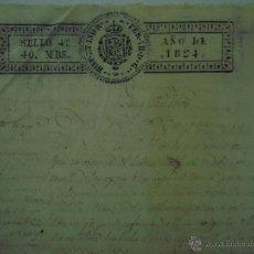 Art: MANUSCRITO DE 1824. SELLO DE FERNANDO VII. FOLIO. STA. COLOMA DE FARNÉS. GIRONA. Lote 47047659