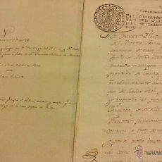 Arte: MANUSCRITO DE VENTA DE UNA CASA Y LAGOS,CALLE CARNICERIAS DE LOGROÑO 1792. Lote 49163352