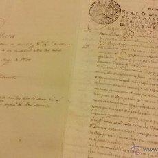 Arte: MANUSCRITO SOBRE APROVECHAMIENTO DE MEDIANIL CALLE HERVENTIA EN 1758. Lote 49163383