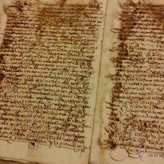 Arte: MANUSCRITO ESCRITURA DE VENTA Y AUTOS SOBRE NULIDAD DE HERENCIA EN 1552 Y 1554. Lote 50385126