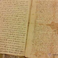 Arte: MANUSCRITO PARTIDA,ORIGINAL CASAMIENTO,JUAN DE AMATIANO Y TERESA EYZAGUIRRE EN 1481. Lote 50385164